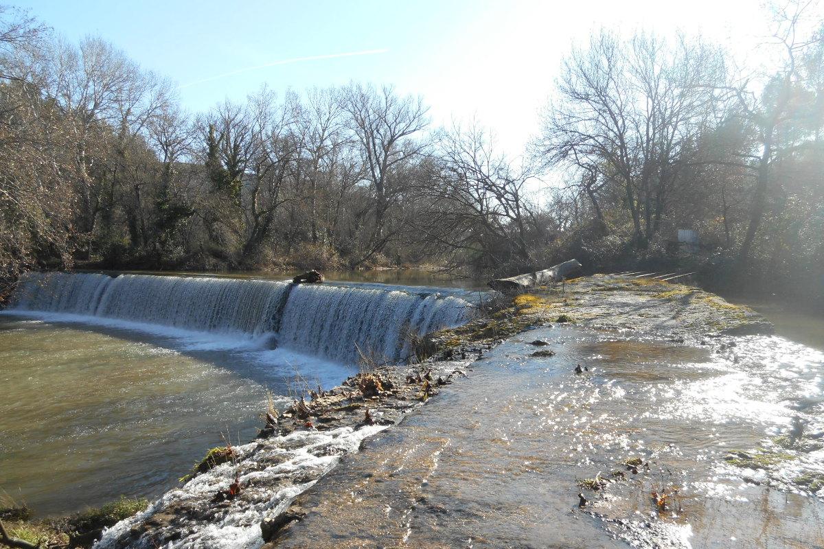 Cascade de la centrale hydroelectrique
